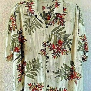 Vintage Hilo Hattie Button Front Mens Shirt Aloha